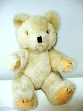 Unknown antique teddy bear Exselsior wood Metal? small Mohair jointed Glass Eyes