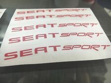 SEAT SPORT Rims Alloy Decals Stickers Ibiza Leon ST Cupra 16 17 18 Wheels