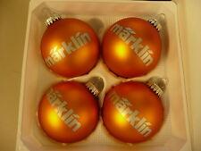 Märklin Weihnachtsbaumkugeln Orange/Gold 4 er Set,. Neuware