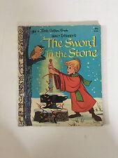Vintage Little Golden Book, Walt Disney's The Sword in the Stone, 1963
