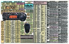 YAESU FT-857D FT-857 AMATEUR HAM RADIO DATACHART GRAPHIC INFORMATION EXT LG