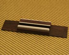 MBRG-D Deluxe Ukulele Rosewood Bridge w/ Decorative Inlay Panel Bone Saddle