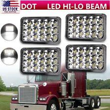 4X LED Headlights For Freightliner FLD120 FLD112 4x6'' Light Hi/Lo Sealed Black