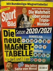 Magnet Tabelle 1. + 2. Fussball  Bundesliga 2020/21 Sportbild  OVP