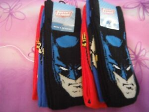 Mens Charcter Socks Size 8-13 6 x Justice League 2 Packs of 3