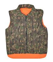Winchester Reversible Trebark Camo Hunting Vest Mens S Blaze Orange Insulated