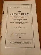 Airedale Terrier Standard Simplified-1921-W.E.Baker