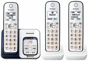 Panasonic KX-TGD563A Bluetooth Cordless Phone with Voice Assist - 3 Handsets