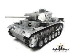 RC Panzer III Vollmetall, Mato, Rohrrückzug, ohne Elektronik, RC Tank full metal