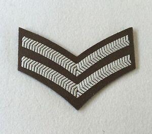 Corporal Rank Badge, FAD No 2 Service Dress, Cpl 2 Bar Chevrons, Tape, Army