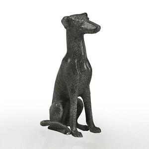 Sitting Greyhound Dog Garden Statue Outdoor Dog Sculpture