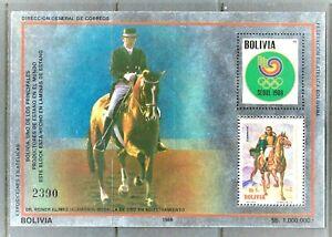 BOLIVIA 1986 ,Olympic Games Calgary, Sport , Tin Foil , MNH ,unusual,**