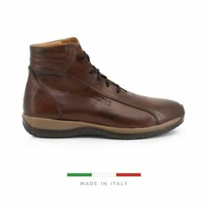 Sparco Monza-GP1 Brown Shoes Sneakers in Leather