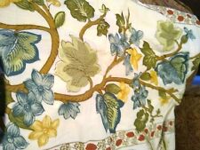 Pottery Barn Accents Westwood Print Bolster Pillow Sham 12x39 Ivory Green Floral