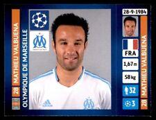 Panini Champions League 2013-2014 Mathieu Valbuena Olympique de Marseille No.427