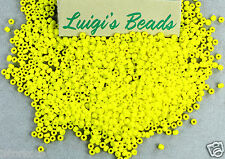 11/0 Round Toho Glass Seed Beads #42F-Opaque-Frosted Dandelion 15g