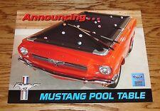 1965 Ford Mustang Replica Pool Table Sheet Brochure 65