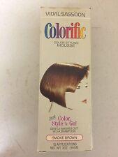 Vintage VIDAL SASSOON Colorific MOUSSE (SMOKE BROWN) Washes out 3-4 Shampoo