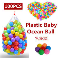 Plastic Ocean Ball 100pcs Quality Secure Baby Kid Pit Toy Swim Fun Colorful Soft