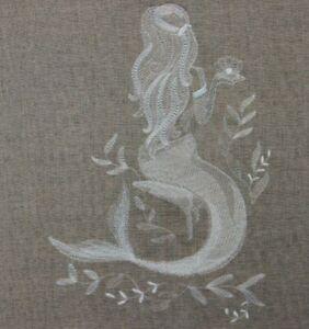 Sheer Mermaid Beauty HAND TOWELS EMBROIDERED SET Beautiful
