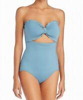 Kate Spade Womens Swimwear Blue Size Medium M Scalloped One Piece $120 791