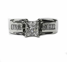 Princess Cut Diamond Engagement Ring 1.03cts. in 14kt. White Gold