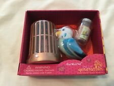 """New Our Generation PET BIRD Set for Most 18"""" Dolls"""