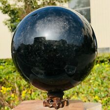 3680G Natural Black Obsidian Sphere Crystal Ball Healing Stone Collectibles