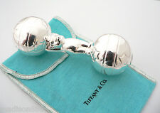 Tiffany & Co Silver Teddy Bear Ball Circus Baby Rattle Teether Rare No Dings