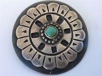 Vintage Taxco Mexico Sterling Silver Brooch with Turquoise La Cucaracha (?)
