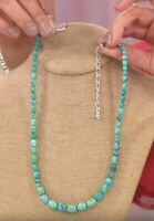 """Jay King Angel Peak Turquoise Nugget 18"""" Sterling Silver Necklace NWT"""