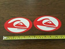 Quiksilver Sticker - LOT OF 2 - Red and Clear Oval - VINTAGE