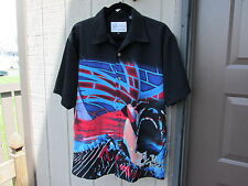 DRAGONFLY Pink Floyd LOUNGE SHIRT THE WALL size medium Chrome Pink Floyd Buttons