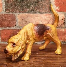 Bloodhound Dog Hand-Painted Cast Iron Door Stop