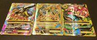 FULL ART Pokemon SET MEGA M BLASTOISE CHARIZARD VENUSAUR EX Ultra Rare Holo LP