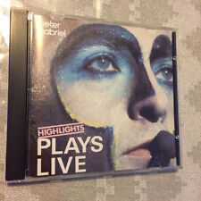 PETER GABRIEL Plays Live Highlights 1984 UK IMPORT BLUE FACE CD issue PGDLCD 1