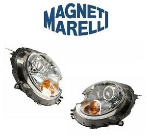 For Mini Cooper R52 Set Of 2 Headlights Assembly Bi-Xenon OEM Magneti Marelli