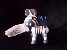 Cute little wooden zebra keyring