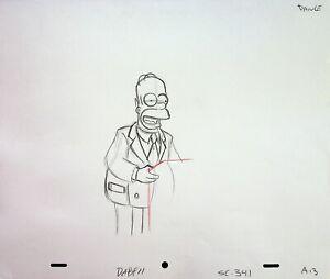 The Simpsons Production Animation Hand Drawn HOMER SIMPSON Pencil Season 13