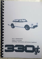 FERRARI 330 GT OPERATING MAINTENANCE & SERVICE HANDBOOK WORKSHOP MANUAL REPRINT
