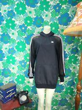E34 Adidas Long Hoodie Mesh Sheer Back Black Size 6 BNWT