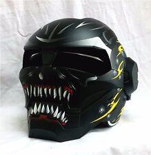Masei 610 Matte Black Flip Up Modular Motorcycle Helmet Racing Bike Street ATV