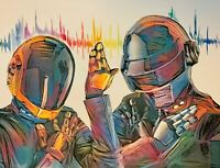 Limited Print Daft Punk Colorful Painting ElectronicTechno House Music Wall Art