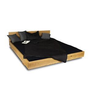 Massivholzbett Wildeiche 100-220 cm Balkenbett Doppelbett Massivholz Bett Eiche