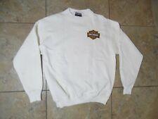 VTG Harley Davidson Patch Pullover Sweater USA Made Large Ivory Color
