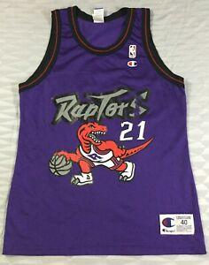 Vintage Toronto Raptors Marcus Camby #21 Basketball NBA Champion Jersey Size40