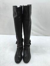 Stuart Weitzman Black Leather Studded Buckle Boots Size 5.5M  F2869/