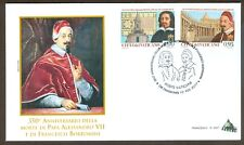 Vatican City Sc# 1642-3: Pope Alexander VII and Francesco Borromini  on FDC 2017