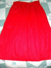 Woman's size 14 Red Wool Lined  A-Line  Skirt from L.L. Bean