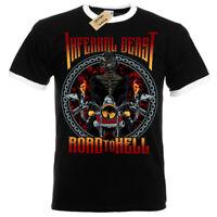 Infernal beast T-Shirt biker road to hell T-Shirt Mens RInger